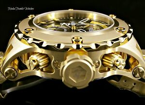 52MM Invicta Subaqua Specialty Swiss 8040N Chronograph Black MOP Dial Gold Watch