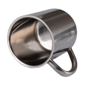 Camping Coffee Cup 16oz Double Wall Insulated Stainless Steel Mug Tumbler Handle
