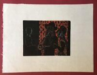 Willem Grimm, Elegie, FH 4, Farbholzdruck aus dem Nachlass, 1971, aus Nachlass