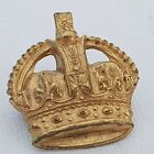 Officers rank Kings crown Gilt Brass 28*27mm Non voided cushion  east west lugs