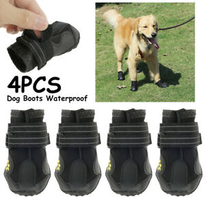 4PCS Protective Dog Puppy Boots Shoes   Anti Slip Waterproof Dogs Puppies Boot