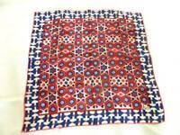 "Vintage Vera Scarf 1960's Geometric 22"" Square Silk Blend"