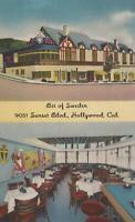 Postcard Bit of Sweden 9051 Sunset Blvd Hollywood CA