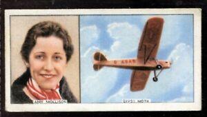 Tobacco Card, Carreras, FAMOUS AIRMEN & AIRWOMEN, 1936, J A Mollison, #34
