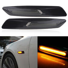 Pair 18LED Fender Side Marker Turn Signal Light For BMW 5 Series E39 E60 F10 F12