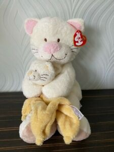ty beanie babies large cream cat soft toy