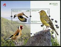 Portugal Madeira 2019 MNH Birds Europa Goldfinch Canary 2v M/S Finches Stamps