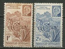 Madagascar Scott #210A-B MH 1941