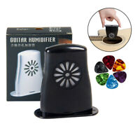 Acoustic Guitar Humidifier Soundhole for Guitar Parts Black with 5 Guitar Picks