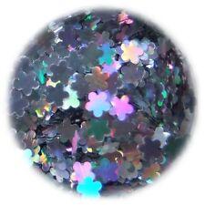 Shapes, Einleger Blumen Silber im Döschen, Sticker, Nailart, Metallic Hologramm