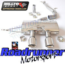 "Milltek Golf MK6 R Exhaust 3"" Race System Cat Back Non Res Non Valved Polished"