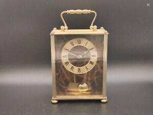Vintage Acctim Brass Quartz Carriage Clock With Pendulum