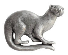 Otter Pewter Brooch Pin Badge