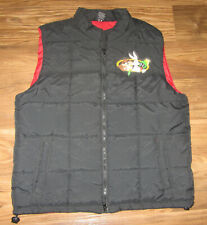 Warners Brothers Adult Puffer Vest Jacket, Bugs Bunny, Taz, Marvin, Size L,  EUC