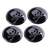 4 X Nabenkappen Nabendeckel Felgendeckel Schädel Aufkleber Skull Sticker Emblem