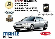 FOR FORD MONDEO 2.0 TDDi 11/2000-> SERVICE KIT OIL AIR FUEL POLLEN 4 FILTER KIT