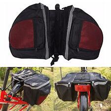 PVC Waterproof Bicycle Cycling Double Pannier Bag Bike Rear Rack Pannier Storage