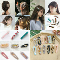 2019 New Geometric Acrylic Women Resin Hair Pin Snap Barrettes Girls Hair Clips