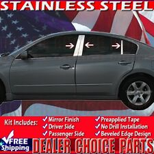 Fits 2007-2012 Nissan Altima 6PC Stainless Steel Pillar Posts Trims Overlays