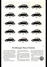 """1963 VOLKSWAGEN VW BEETLE EVOLUTION AD A3 CANVAS PRINT POSTER 16.5""""x11.7"""""""
