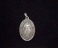 Divina Misericordia Jesus, en Ti Confio medal silver tone 16338