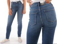 Wrangler Damen Jeanshose Body Bespoke High Rise Slim Authentic Blue W26 - W33