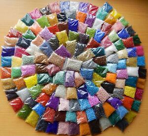 Perlen * Glasperlen * ROCAILLES SET * 120 Farben f. Perlentiere * 1,2 KG+ Draht