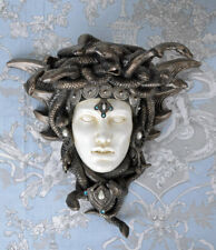 Wall sculpture Medusa snake in crown vintage console Gorgone Art Nouveau style