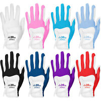 FIT39EX Glof Glove Men's/Women's White Leather Base Stretchable Fit Non-slip
