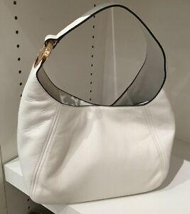 * TEST Fulton Large Hobo Shoulder Bag White Leather 35S0GFTH3L NEW $398 FS