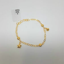 Miran 110382 22K/916 Gold Star And Bell Baby Bracelet RRP $345