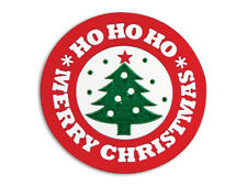 25 Merry Christmas Tree Ho Ho Round SEALS Cards Cello bags Label Envelope Stamps