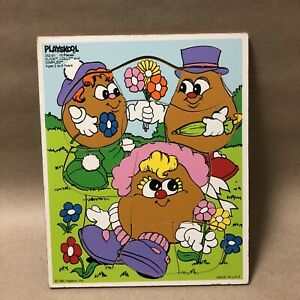Mr. Potato Head Vintage Playskool Puzzle, Slick Lolly and Dimples!