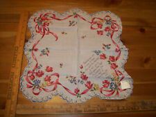 Vintage Friendship Greeting Scallop Store Tag Unused 1950'S Hankie Handkerchief