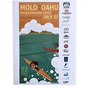 MOLOKAI 2 OAHU 2014 PADDLE BOARD WORLD CHAMPIONSHIP SURF EVENT POSTER NEW