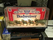Vintage Budweiser Beer Lighted Clydesdale Bar Clamp Sign Light Napkin Holder