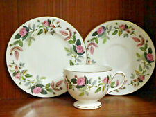 More details for wedgwood bone china - hathaway rose - trio - cup /saucer / plate