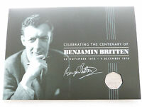 2013 Royal Mint Benjamin Britten 100th Anniversary 50p Fifty Pence Coin Folder