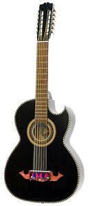 Paracho Elite Moreno 12 String Bajo Sexto Black Acoustic Guitar