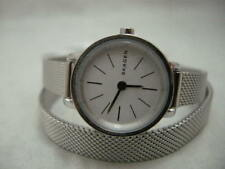 Authentic Skagen SKW2601 Wrap Around Mesh Stainless Steel Bracelet Women's Watch
