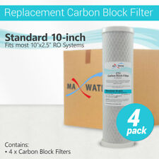 """4PK- 10"""" x 2.5"""" Coconut Shell CTO Carbon Block Water Filter for RO & Whole house"""