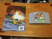 Super Mario 64 - Nintendo 64 Game w/ Original Manual