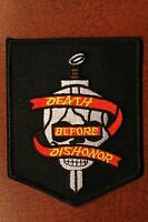 DEATH BEFORE DISHONOR PATCH - USMC, ARMY, Skull, Harley Davidson - Military USA