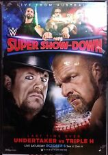 WWE Super Show-Down 2018 PPV Poster, Undertaker v Triple H, Excellent Condition