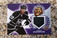 LA Los Angeles Kings Wayne Simmonds Game Used Jersey Card 2011 SGA