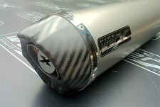 Honda CBR500r 2012+ Titanium Round, Carbon Outlet Exhaust Can