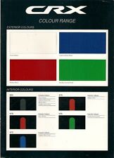 Honda CRX Colour & Trim 1992-93 UK Market Leaflet Brochure ESi VTi