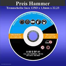 Trennscheibe 125 x 1 x 22,23 mm Metall INOX Trennscheiben 125mm 100 Stück