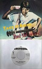 PAUL McCARTNEY  Take It Away  rare promo 45 with PicSleeve THE BEATLES