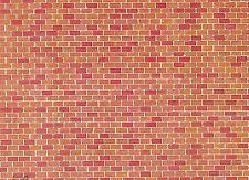 (57,28m²) Faller 170608 Dekorplatte Backstein, 250 x 125 mm, Karton, Neu